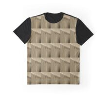 Linear Functions - Metal Building in Sepia Tones Graphic T-Shirt