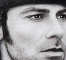 Aidan Turner - Ross Poldark - Pastel Portrait 1 Sticker