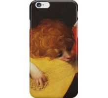 Rosso Fiorentino - Musical Angel 1522. Child portrait: cute baby, kid, children, angel, child, kids, lovely family, boys and girls, boy and girl, mom mum mammy mam, childhood iPhone Case/Skin