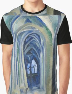 Robert Delaunay - Saint-Severin. Abstract painting: abstraction, geometric, expressionism, composition, lines, forms, creative fusion, music, kaleidoscope, illusion, fantasy future Graphic T-Shirt