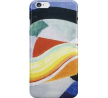 Robert Delaunay - Propeller. Abstract painting: abstraction, geometric, expressionism, composition, lines, forms, creative fusion, music, kaleidoscope, illusion, fantasy future iPhone Case/Skin