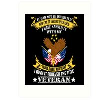 Veterans tshirt Art Print