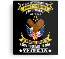 Veterans tshirt Metal Print