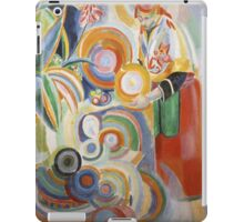 Robert Delaunay - Portuguese Woman. Abstract painting: abstraction, geometric,  Woman, composition, lines, forms, Portuguese , music, kaleidoscope, illusion, fantasy future iPad Case/Skin