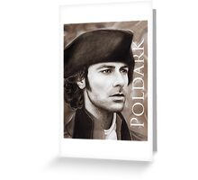 Aidan Turner - Ross Poldark - Pastel Portrait 2 Greeting Card