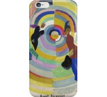 Robert Delaunay - Political Drama. Abstract painting: abstraction,  Drama, Political , composition, lines, forms, geometric, music, kaleidoscope, illusion, fantasy future iPhone Case/Skin