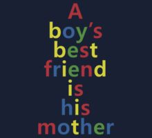 Psycho - A Boys Best Friend Is His Mother Kids Clothes