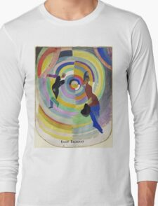 Robert Delaunay - Political Drama. Abstract painting: abstraction,  Drama, Political , composition, lines, forms, geometric, music, kaleidoscope, illusion, fantasy future Long Sleeve T-Shirt