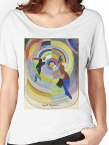 Robert Delaunay - Political Drama. Abstract painting: abstraction,  Drama, Political , composition, lines, forms, geometric, music, kaleidoscope, illusion, fantasy future Women's Relaxed Fit T-Shirt