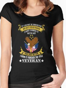 Veterans tshirt Women's Fitted Scoop T-Shirt