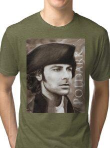 Aidan Turner - Ross Poldark - Pastel Portrait 2 Tri-blend T-Shirt