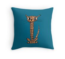 Mr Stripey Throw Pillow