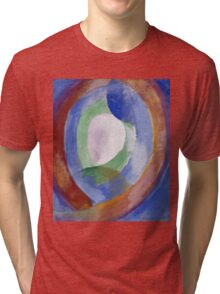 Robert Delaunay -  Forms Circular. Abstract painting: abstraction, geometric, expressionism, composition, lines, forms, creative fusion, music, kaleidoscope, illusion, fantasy future Tri-blend T-Shirt