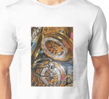 Vanitastic- watch, pearls and skull ring reflected in mirrors Unisex T-Shirt