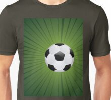 Soccer Ball on Rays Background Unisex T-Shirt