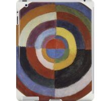 Robert Delaunay - First Disc. Abstract painting: abstraction, geometric, expressionism, composition, lines, forms, creative fusion, music, kaleidoscope, illusion, fantasy future iPad Case/Skin