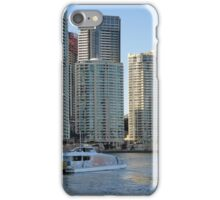 Brisbane River with buildings and ferry iPhone Case/Skin