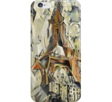 Robert Delaunay - Eiffel Tower. Abstract painting: abstraction, geometric, Eiffel ,  Tower, lines, forms, Circular , music, kaleidoscope, illusion, fantasy future iPhone Case/Skin