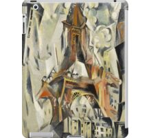 Robert Delaunay - Eiffel Tower. Abstract painting: abstraction, geometric, Eiffel ,  Tower, lines, forms, Circular , music, kaleidoscope, illusion, fantasy future iPad Case/Skin
