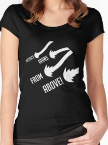 Justice rains frome above Women's Fitted Scoop T-Shirt