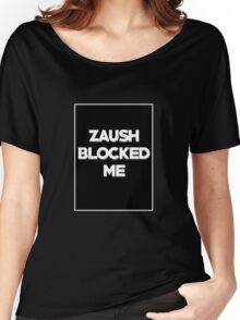 BLOCKED BY ZAUSH Women's Relaxed Fit T-Shirt
