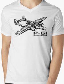 P-61 Black Widow Mens V-Neck T-Shirt