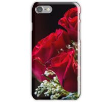 Arrangement of red roses with dark background iPhone Case/Skin