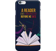 A reader lives iPhone Case/Skin