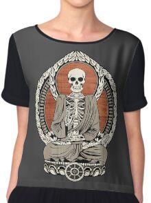 Skeleton Buddha Chiffon Top