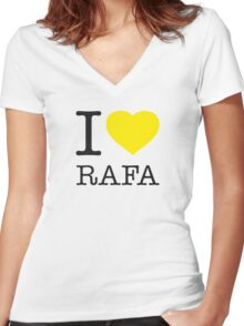 I ♥ RAFA Women's Fitted V-Neck T-Shirt