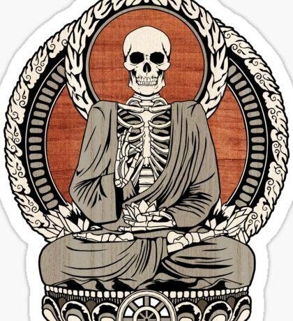 Skeleton Buddha Sticker