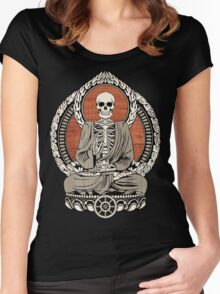Skeleton Buddha Women's Fitted Scoop T-Shirt