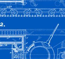 Tank Patent - Blueprint Sticker