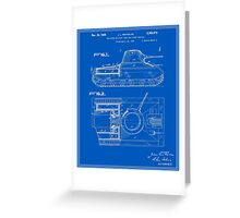 Tank Patent - Blueprint Greeting Card