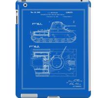 Tank Patent - Blueprint iPad Case/Skin