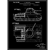 Tank Patent - Black Photographic Print