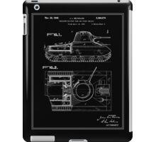 Tank Patent - Black iPad Case/Skin