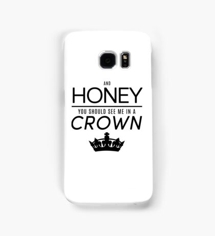Moriarty 'Crown' Quote - Black Samsung Galaxy Case/Skin