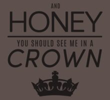 Moriarty 'Crown' Quote - Black One Piece - Short Sleeve