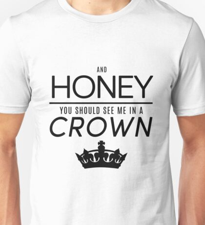 Moriarty 'Crown' Quote - Black Unisex T-Shirt