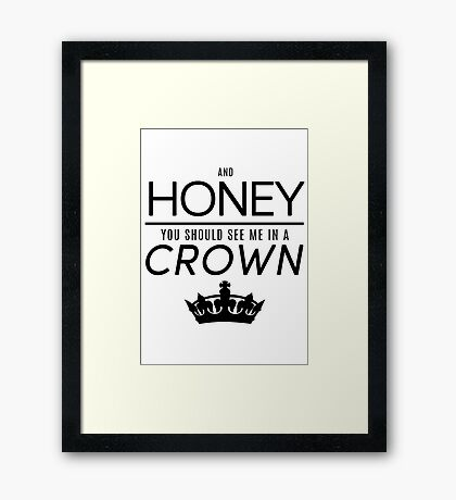Moriarty 'Crown' Quote - Black Framed Print