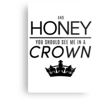 Moriarty 'Crown' Quote - Black Metal Print