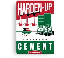 'Harden Up' Vintage Cement Advertising Sign Canvas Print