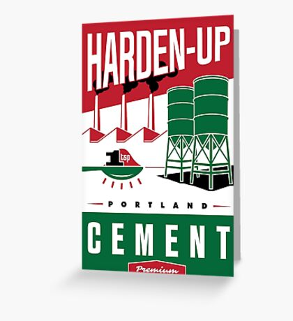 'Harden Up' Vintage Cement Advertising Sign Greeting Card