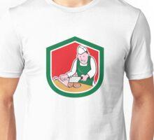 Butcher Chopping Meat Shield Cartoon Unisex T-Shirt