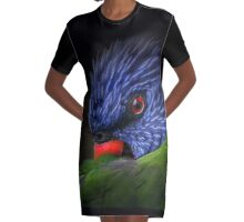 lorikeet Graphic T-Shirt Dress