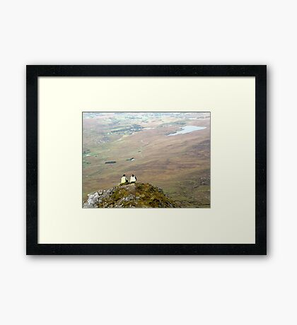 Mountain People Framed Print