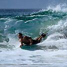 Bodyboarder Duranbah Beach by Noel Elliot
