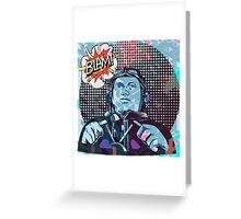 """Blam! Speed""  Pop Art Style Greeting Card"