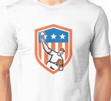 Baseball Pitcher Throw Ball Cartoon Unisex T-Shirt